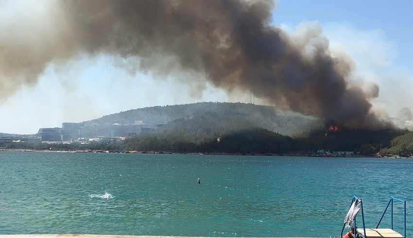 Bodrum Güvercinlik'te oteller bölgesinde de yangın çıktı!